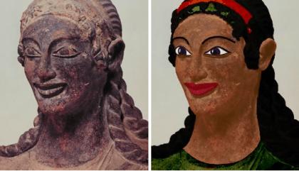 Apollon de Véles avec ses couleurs originelles, Vie siècle av. notre ère