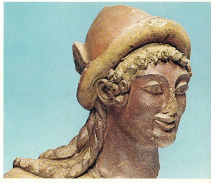 la tête de Tums - Temple de Portonaccio de Véles, Ve siècle av. notre ère