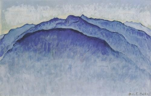 Hodler - le matin se lève sur les pics,1915