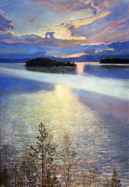 Akseli Gallen-Kallela - Gezicht op een meer