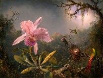 Martin_Johnson_Heade-Cattleya_Orchid_and_Three_Brazilian_Hummingbirds-1