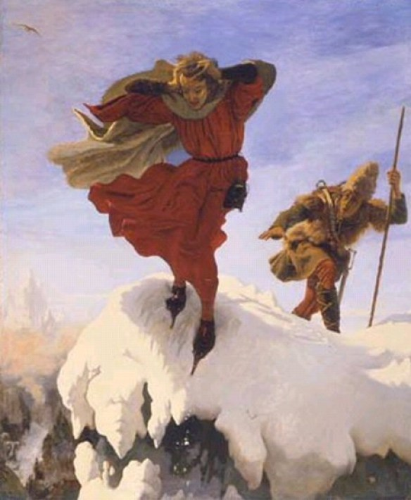 Manfred on the Jungfrau par Ford Madox Brown (1821-1893)