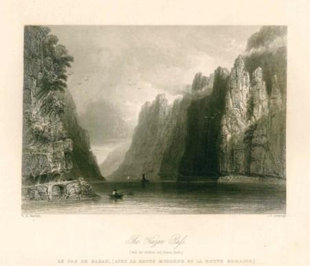 william-henry-barlett-les-portes-de-fer-le-danube-illustre-1844-1849