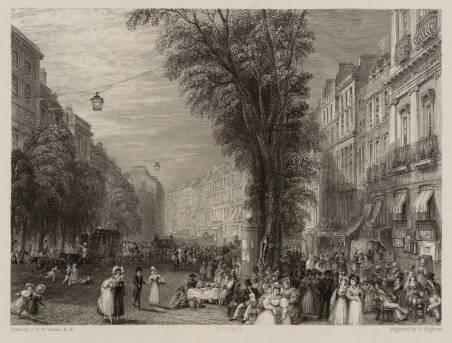 Boulevards, Paris 1835 by Joseph Mallord William Turner 1775-1851