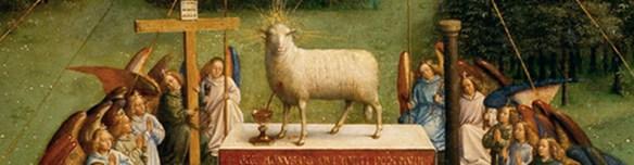 Les frères Van Eyck - l'agneau mystique (détail), 1432