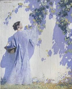 Gathering Grapes - Daniel Garber 1909