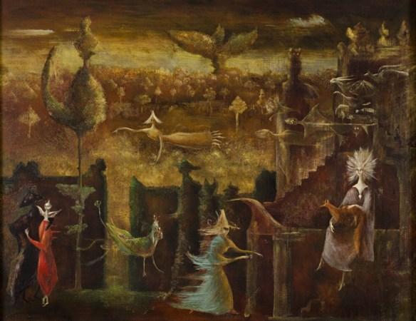 Leonora Carrington, Nine Nine Nine, 1948, oil on canvas, private collection.jpg