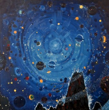 Wenzel Hablik - Starry Sky, Attempt, 1909
