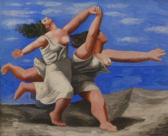 Pablo PICASSO - deux femmes courant sur la plage