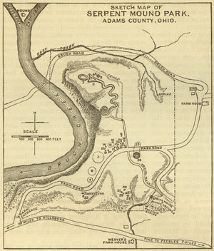 Map-Serpent mound-Ohio-Park