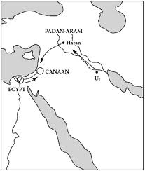 Abraham goes to Canaan Map1