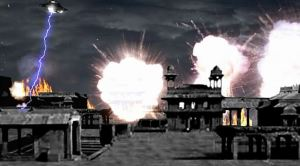 UFO Attack on Dwarva, Krishna's City