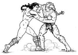 Alalu wrestles Anu
