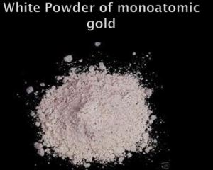 Gold powder w label