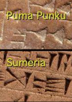 Tiahuanaco and Sumer 3000 BC predeluvian scipt in metal museum in La Paz Bolivia AA s4d2 1-03-57