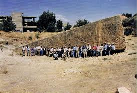 Quarry for Baalbek Landing Platrorm; stones moved by sound, lift assisted by monoatomic gold?