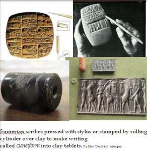 Cuneiform collage pub domain