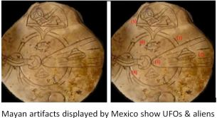Mayan UFO depiction