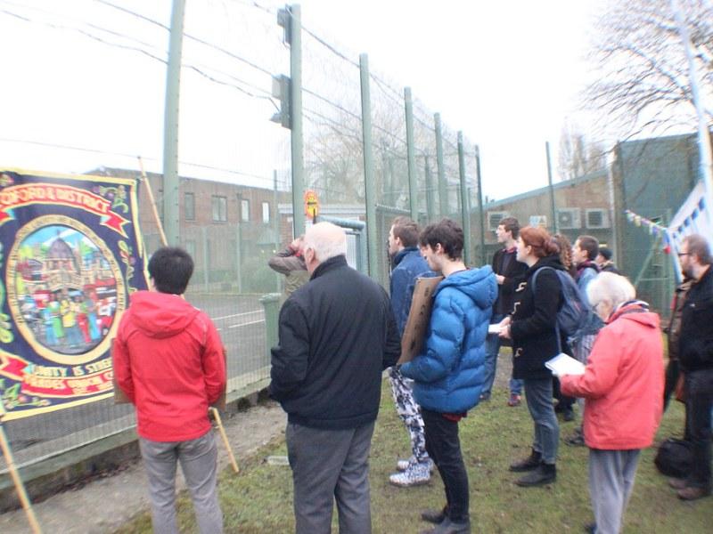 Protestas contra centros de detención de migrantes