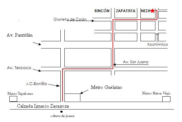 mapa para llegar