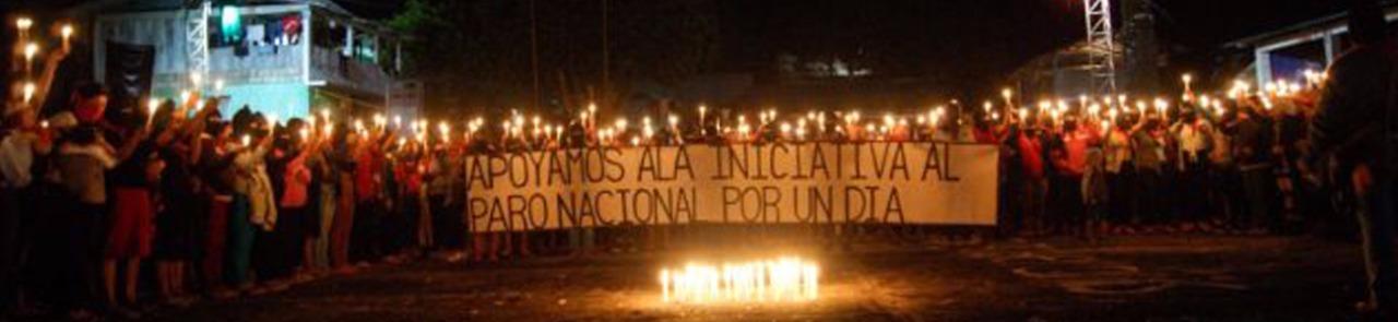 Hoy 9 de marzo 2020 mujeres bases de apoyo del EZLN y del CNI apoyamos a la iniciativa del paro nacional de un día.