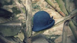 Sombrero fieltro azul