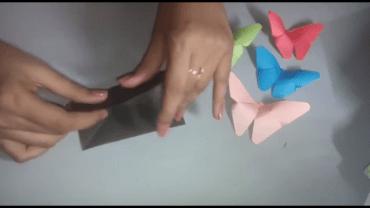 Fold the paper horizontally