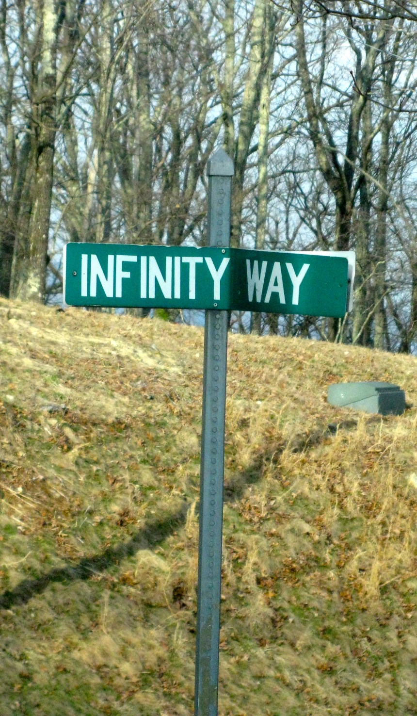 Street signs let you know you have entered a different state of mind.
