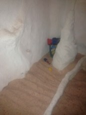 A special area designed for children to play while in salt cave for their treatments.
