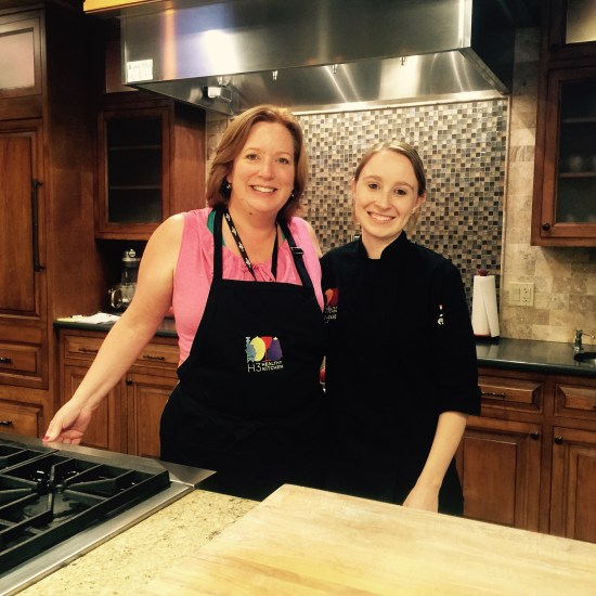 Chef Carrie Adams and I really hit it off. It must be our shared passion for cooking.