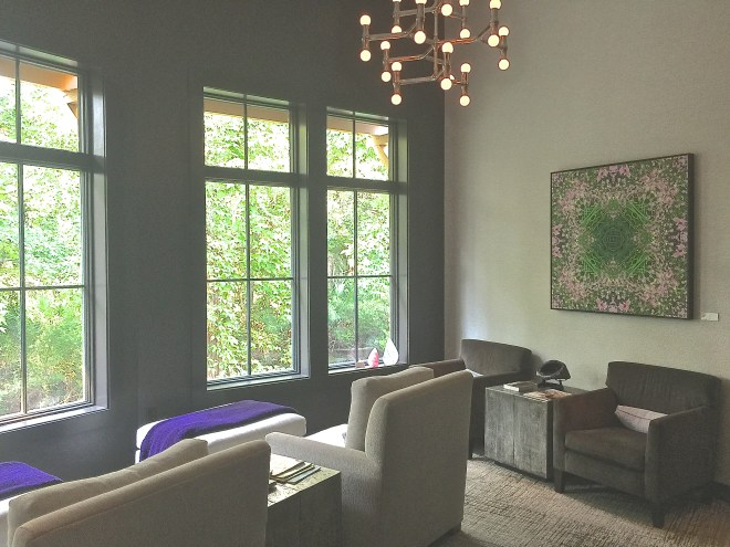 The new spa features a beautiful relaxation room overlooking water and the Shipyard golf course.