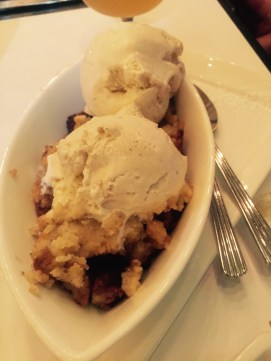 Scratch made Japanese milk bread pudding with vanilla ice cream