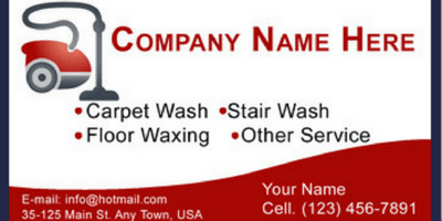cleaning company business cards ideas