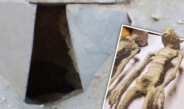 """Never-before seen images inside Tomb in Peru where alleged """"Alien mummies"""" were found"""