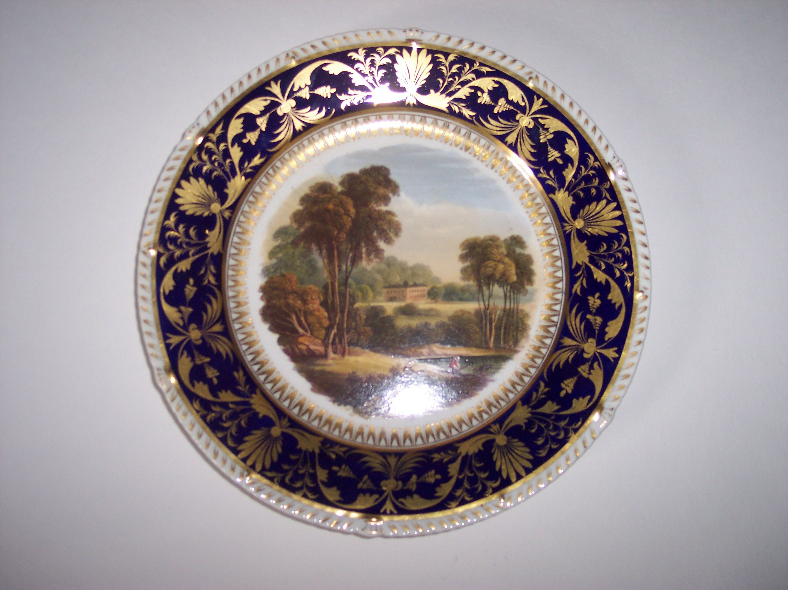 This plate is marked on the bak 'On the river Derwent'