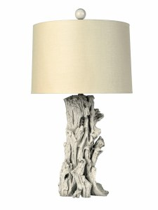 Lifestyle Lighting by The Bradburn Company: Blanc Sequoia table lamp