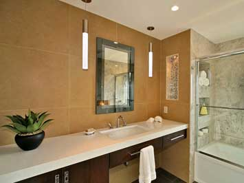 Remodelers report a growing trend for bathroom designs that pair calming simplicity with modern convenience