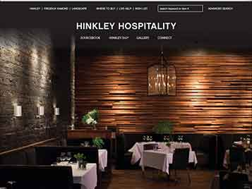 Hinkley Launches Hospitality Web Site