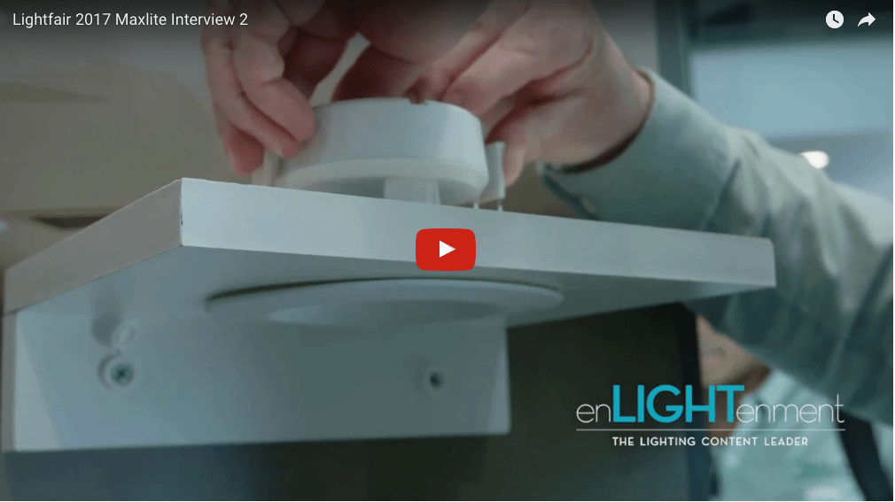 Lightfair 2017 Maxlite J-Box Downlight Interview