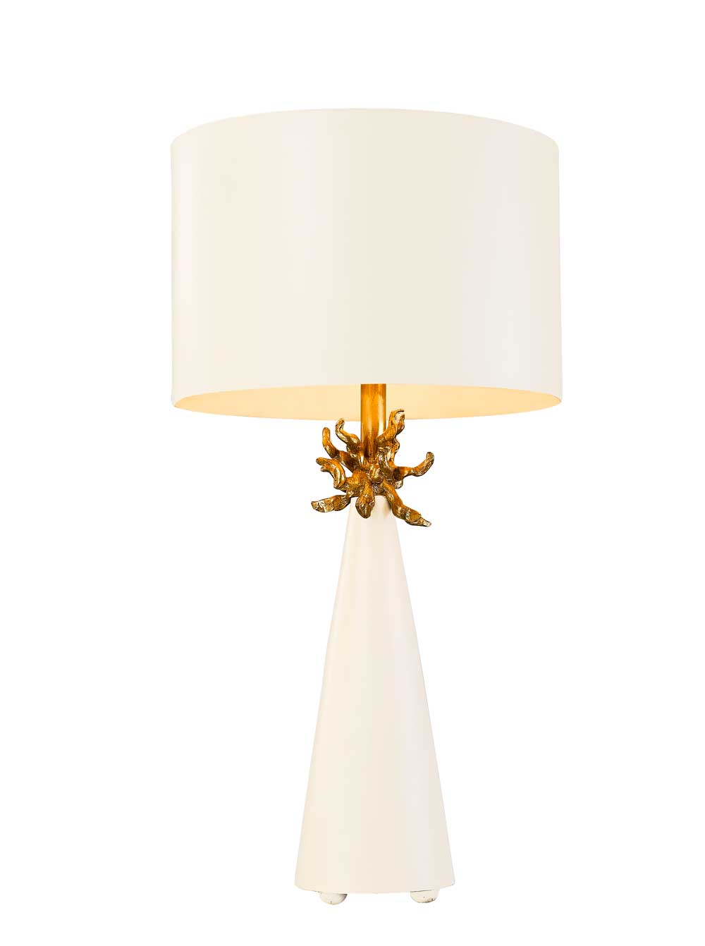 Lucas + McKearn Flambeau Neo White  Table Lamp