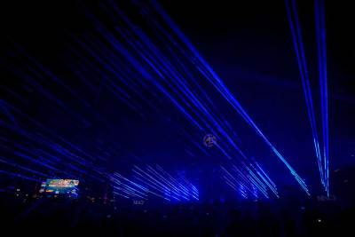 Blue Laser World Record Light Show