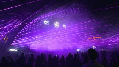 Purple Laser World Record Light Show