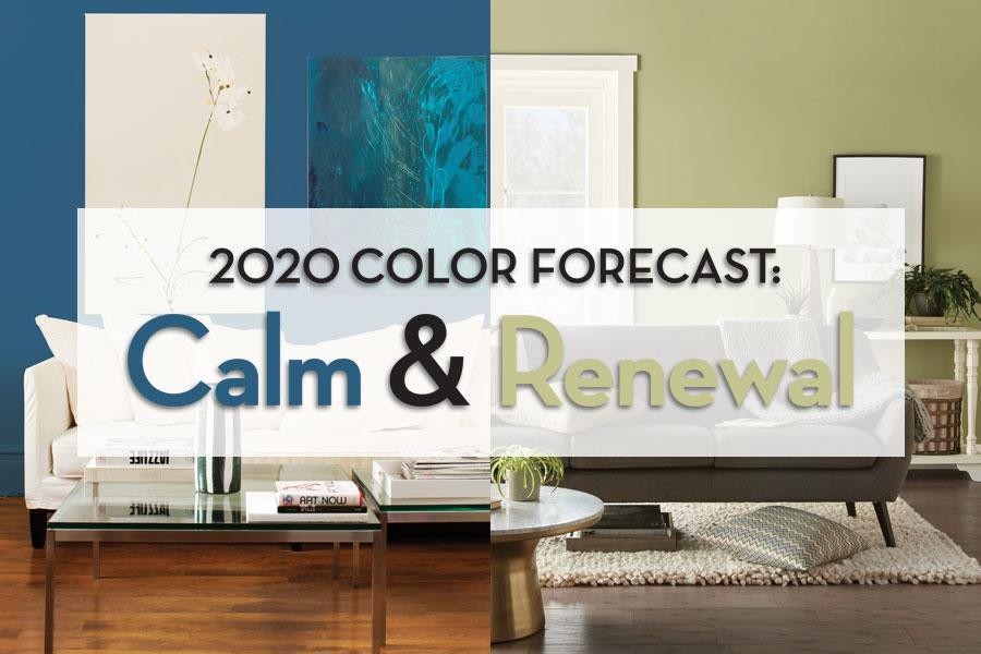 2020 Color Forecast: Calm & Renewal