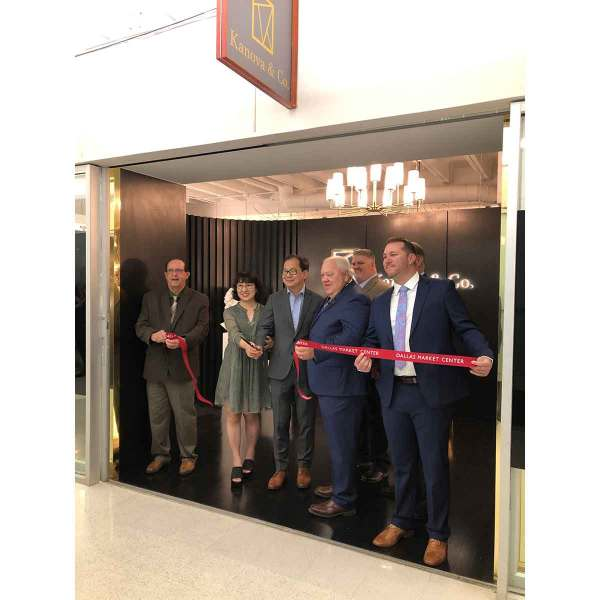 The team from new company Kanova & Co. – a sister brand to Terracotta Designs – cuts the ribbon on their space at TM 4311