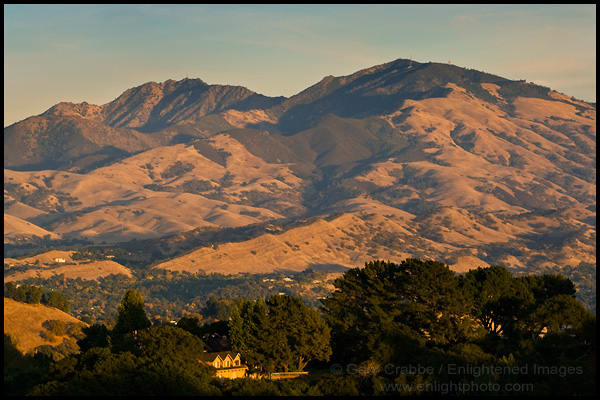 To locate the mount diablo. Photo Sunset Light On Mount Diablo From Lafayette California Stock Photo Image Photography Photograph Art Print Mural