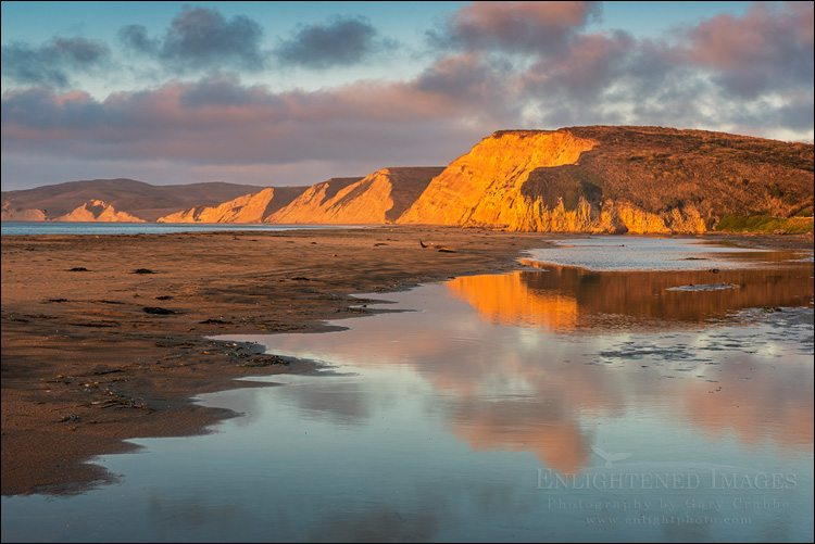 Photo: Morning light at Drakes Beach, Point Reyes National Seashore, Marin County, California