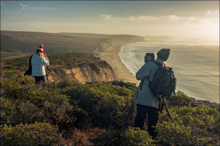 Photo: Photographers at Drakes Beach, Point Reyes National Seashore, Marin County, California