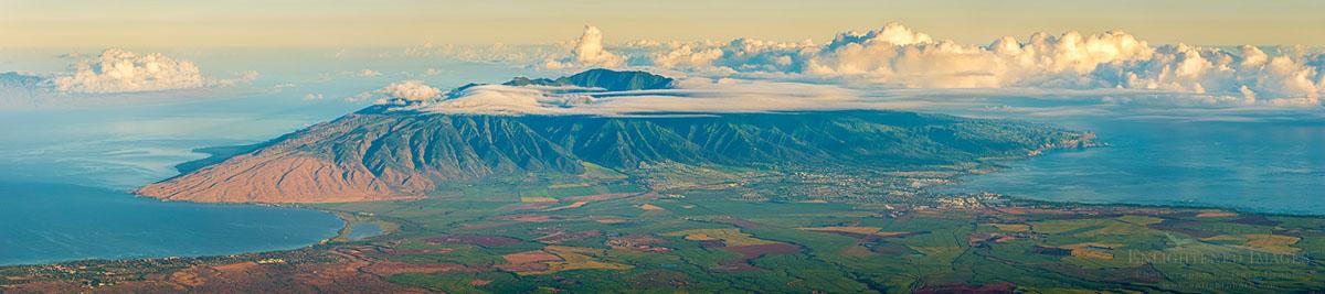 Photo: Panorama View of West Maui from Haleakala, Haleakala National Park, Maui, Hawaii