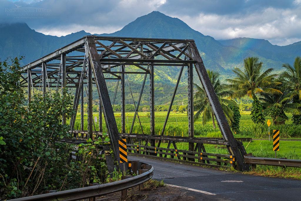 Photo: One-lane Hanalei Bridge, Hanalei Valley, Kauai