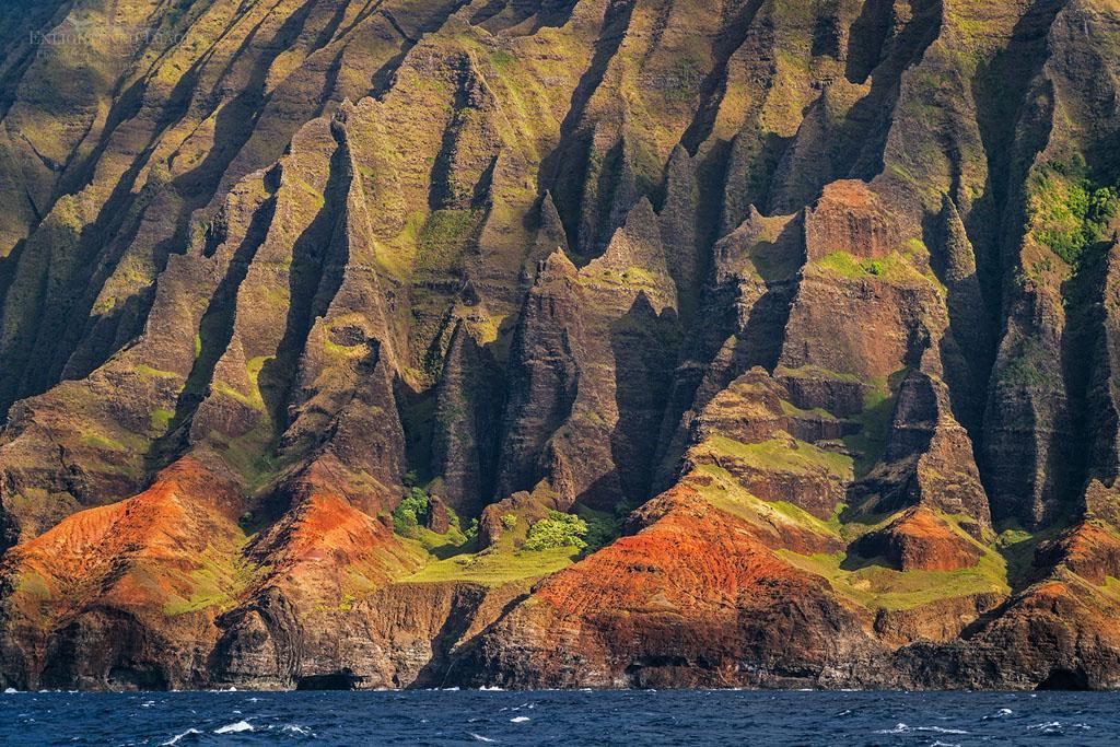 Photo: Steep Rugged cliffs and ridges  of the Na Pali Coast, Kauai, Hawaii